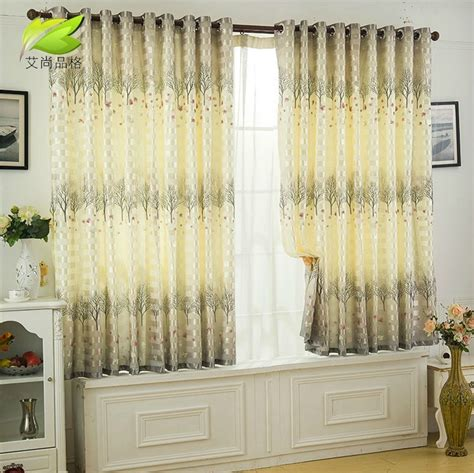 Living Room Curtains For Sale by Promotion 2014 Style Ready Made Curtain Semi Blackout