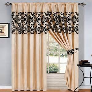 Waverly Damask Curtains Contemporary Black And Cream Curtain Design For Formal