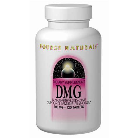 Suplemen Dmg dmg dimethylglycine 100mg 60 tabs from source naturals