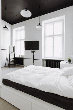 wallpaper kamar tidur hitam putih desain kamar tidur dengan skema warna hitam putih rumah diy