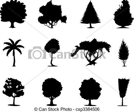 trees silhouettes stock illustration image of color 43384093 one ton trees of black colour a vector illustration clip vector search drawings and
