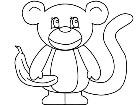 printable monkeys coloring pages coloring part 3