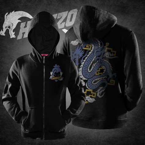 Zipper Hoodie Overwatch Brothersapparel 2 overwatch hanzo sweat shirts black zipper hoodies mens wishining
