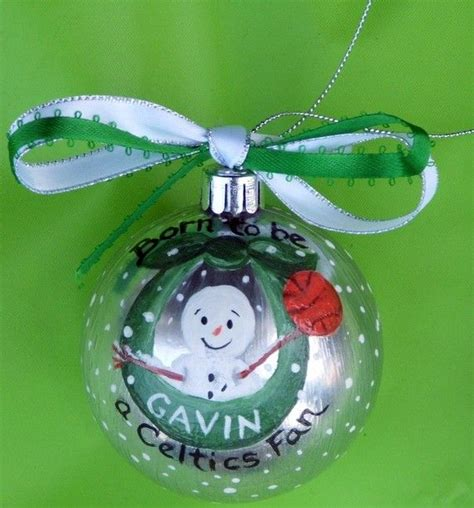 new baby boston celtics ornament custom sports christmas