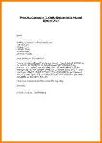 Proof Of Employment Letter Template by 7 Letter Of Proof Of Employment Resume Emails