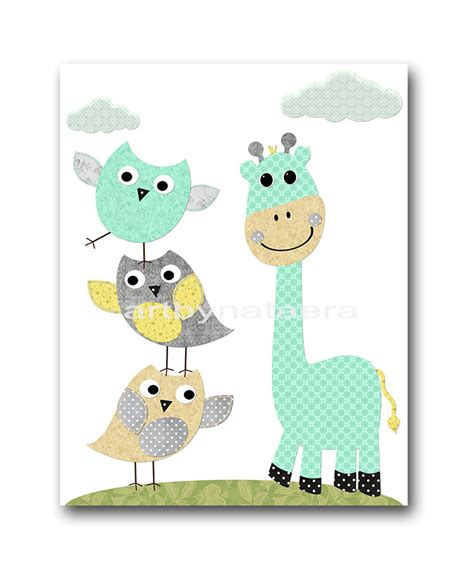Giraffe Baby Decorations Nursery Baby Room Decor Giraffe Nursery Wall Decor Children Room