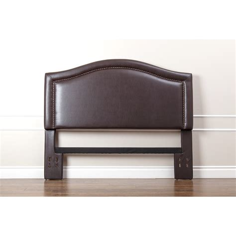 dark brown leather headboard brown headboards sears