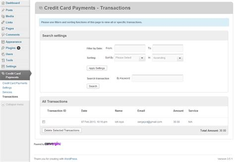 Credit Card Payment Record Template by Credit Card Payments By Criticalgears Codecanyon
