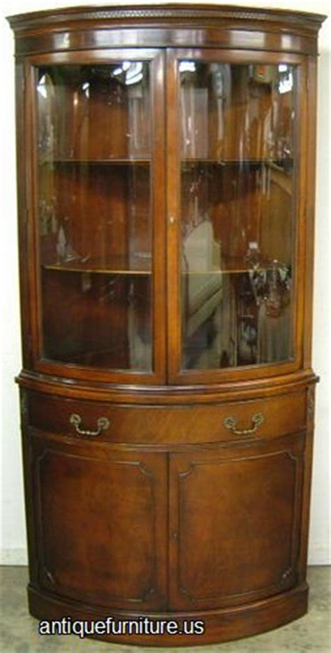 antique corner china cabinet furniture antique mahogany curved glass corner china cabinet at