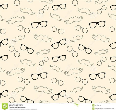 hipster style pattern glasses and mustaches vect royalty
