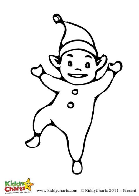 cute elf coloring pages free cute elf colouring for the kids
