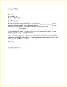 letter of resignation template 2 weeks notice doc 695463 resignation letters 2 week notice 40 two
