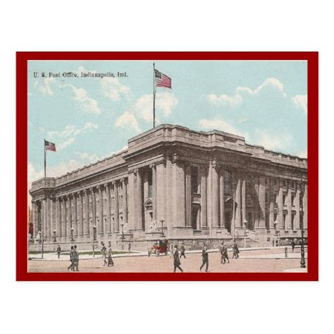 Post Office Indianapolis by Vintage U S Post Office Indianapolis Postcard Zazzle
