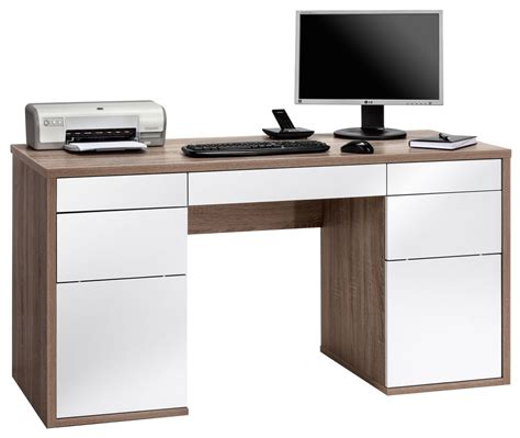 Maja Salzburg Oak White Computer Desk Computer Desk In White