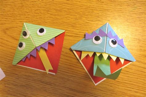 Origami Monsters - ms s preschool monsters origami
