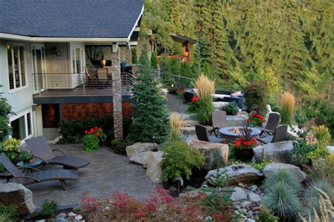 country backyards country calm alderwood landscaping hgtv