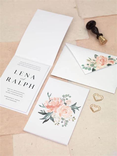 Hochzeitseinladung Umschlag by Diy Hochzeitspapeterie Serie Blumenmeer Hochzeit Planen