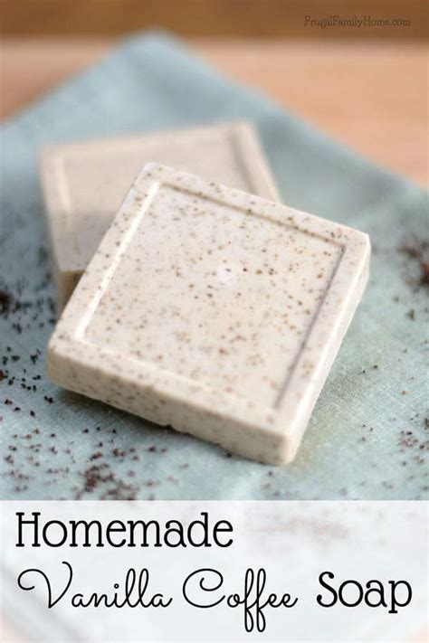 Easy Handmade Soap - diy vanilla coffee soap