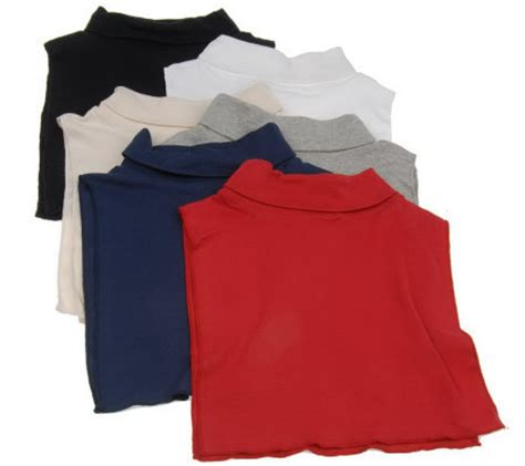 Sweater Dickies Banaboo Shopping set of 6 cotton turtleneck dickies page 1 qvc