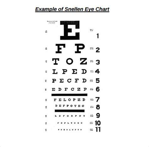 printable eye exam chart pdf eye chart 8 download free documents in pdf sle