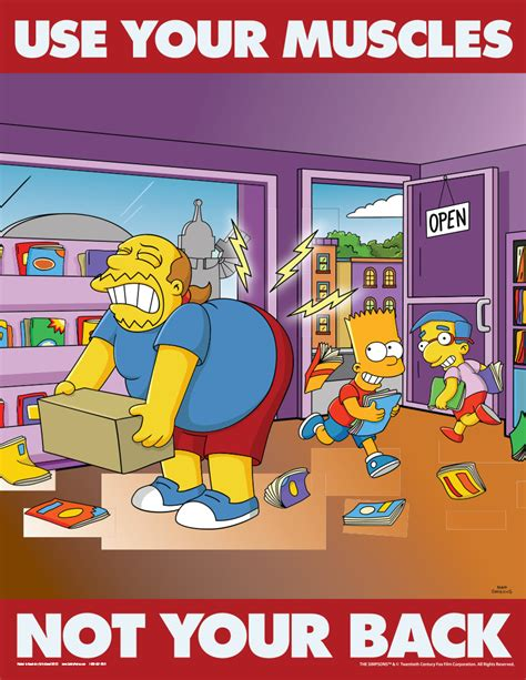 The Meme Machine Pdf - simpsons back injury prevention s1123 safety posters