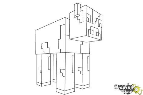 minecraft coloring pages cow how to draw a cow from minecraft drawingnow