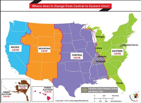 central time map history and geography faqs and answers