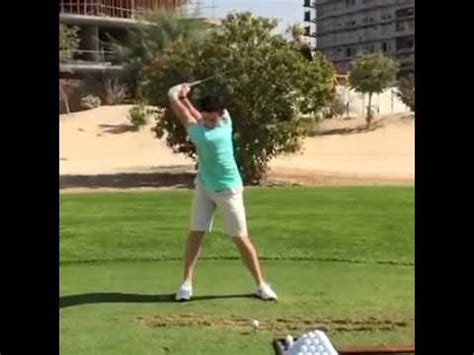 golf swing face on slow motion rory mcilroy golf swing slow motion face on dubai 2015