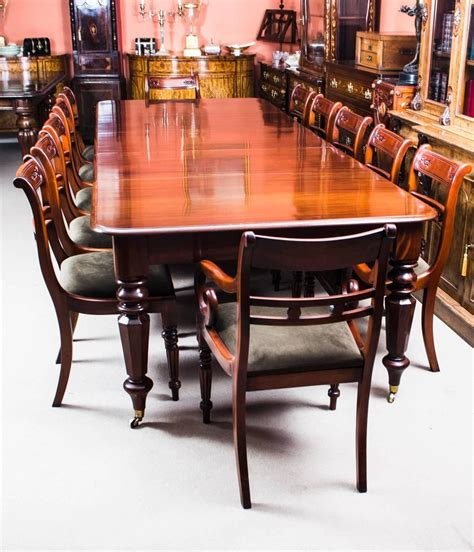 Antique Mahogany Dining Table And Chairs Antique William Iv Mahogany Extending Dining Table And 12 Chairs At 1stdibs