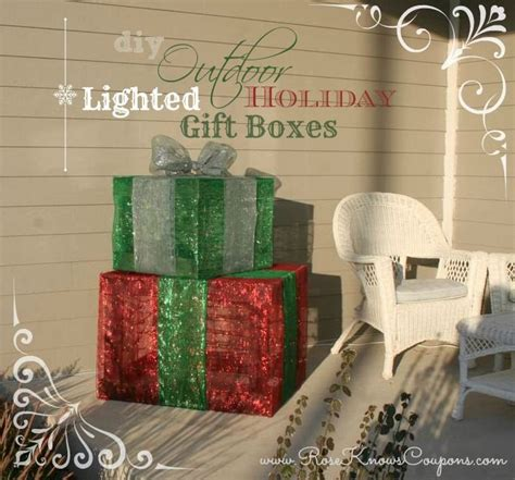how to make a wire christmas gift box on pinterest diy outdoor lighted gift boxes not the cheap wire ones that are overpriced these will