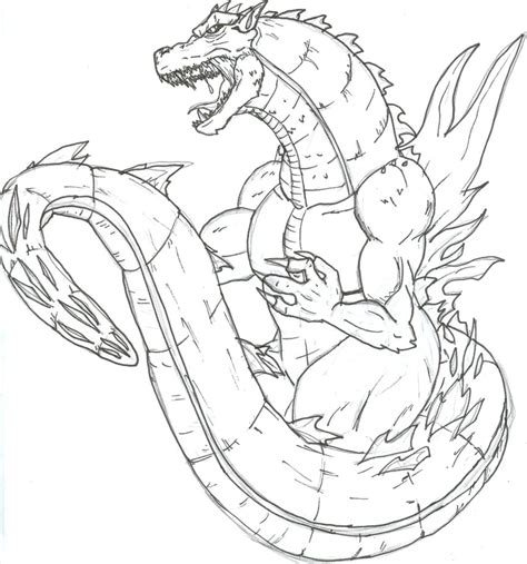 free coloring pages of how to draw a godzilla