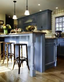 Kitchen Islands With Breakfast Bars Chuckwheelock Blue Farmhouse Kitchen At Home Kitchens