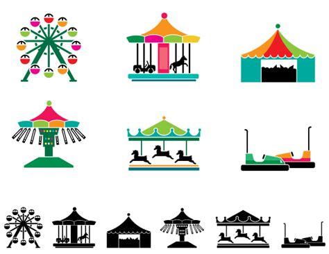 theme park vector theme park attraction icons premium vector graphics