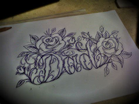 tattoo lettering design lizvengeance
