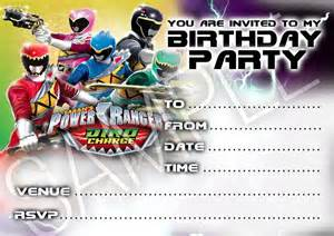 party invitations power rangers birthday party 10 cards
