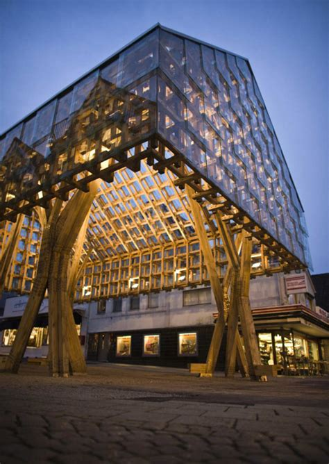 design house oslo lighting lantern pavilion in norway acts as avant garde wood shelter evolo architecture magazine