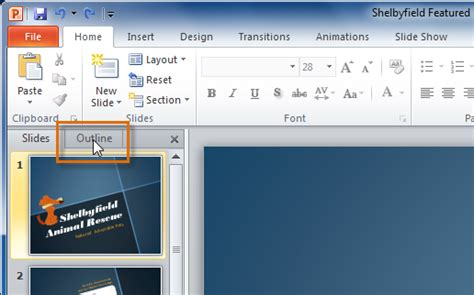 Powerpoint Outline Tab by Related Keywords Suggestions For Slides Tab