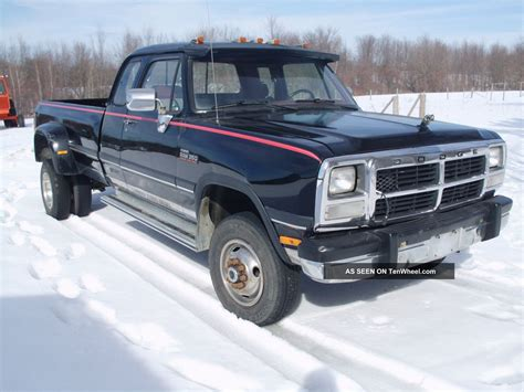 dodge ram turbo diesel 1992 dodge ram 350 cummins turbo diesel dually 4x4