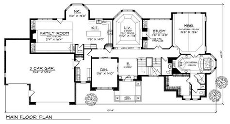 wide lot house plans european home with 4 bdrms 4255 sq ft house plan 101 1249