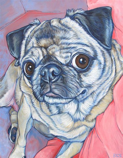 pug paint 1000 images about pug paintings on pastel paintings portrait and