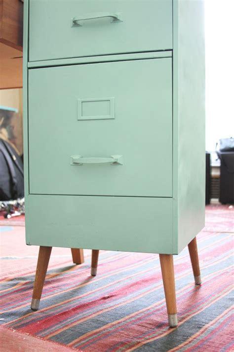 vintage file cabinet  mid century legs makeover diy