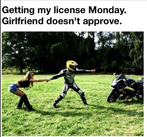 Crotch Rocket Meme - the girlfriend does not approve of motor visordown