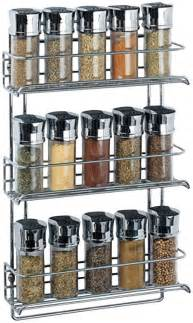 Hanging Spice Organizer 1812 3 Tier Wall Mounted Spice Rack Chrome Casa