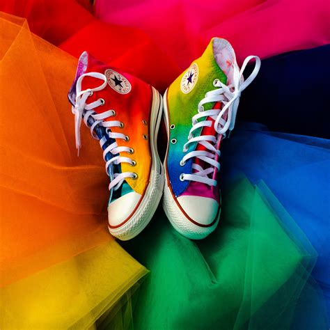 Converse Rainbow rainbow high top converse intellexual design llc custom