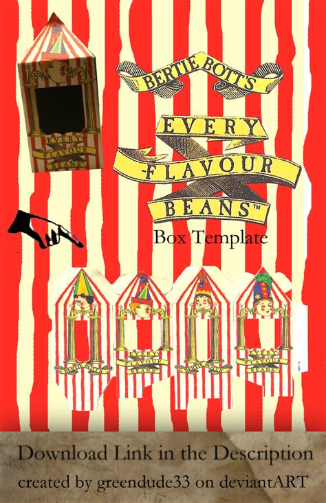 bertie botts every flavour beans template bertie bott s box template by greendude34 on deviantart