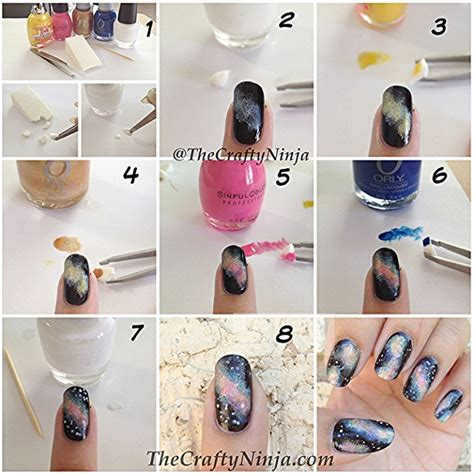 diy design galaxy nail art design diy alldaychic