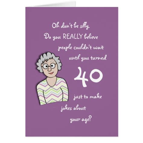 40th Birthday Card Ideas For 40th Birthday For Her Funny Card Zazzle