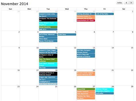 Release Calendar Release Date Calendar Play Date Technabob