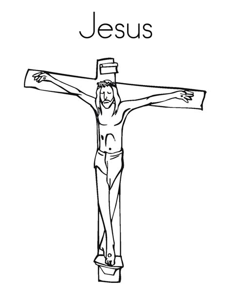 coloring pages jesus on the cross god jesus coloring pages free