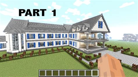 minecraft house tutorial step by step minecraft how to make a mansion step by step part 1